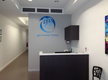 Reception Desk Closer View - Lygon Family Dental